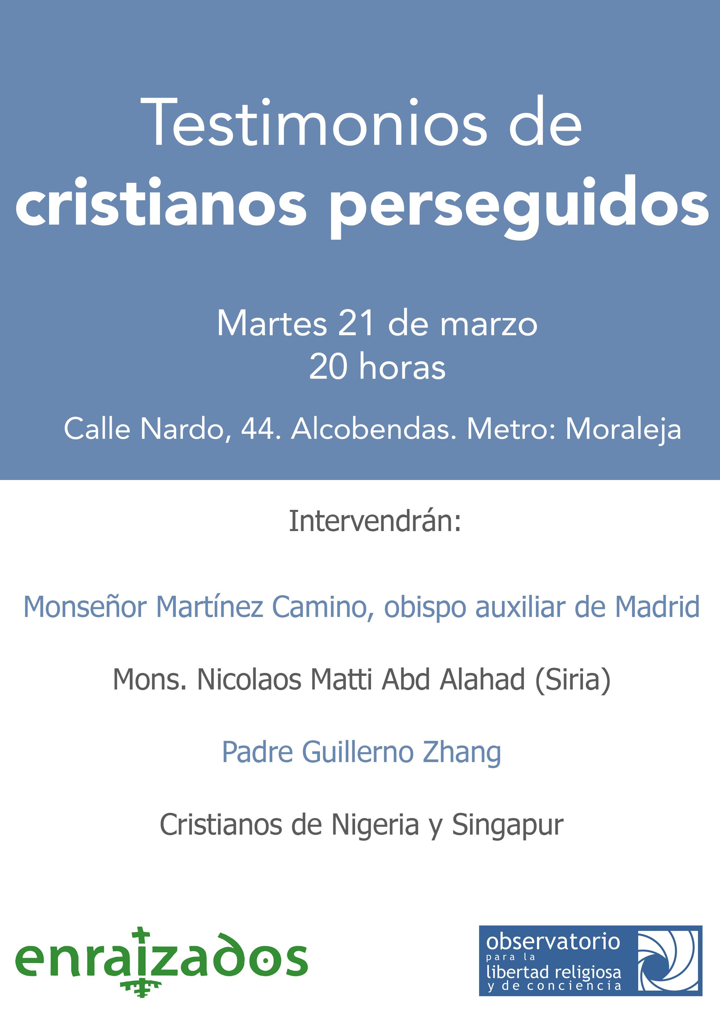 cartel cristianos perseguidos V1