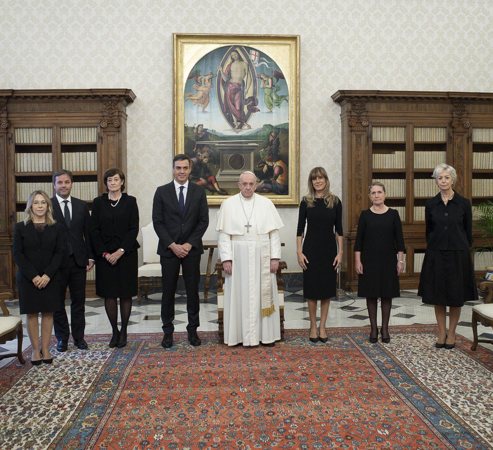 Palabras del Papa Francisco a Pedro Sánchez